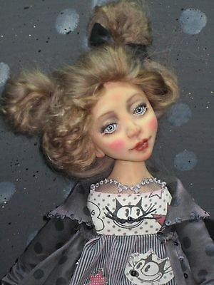"ooak art doll ""Kitty"""