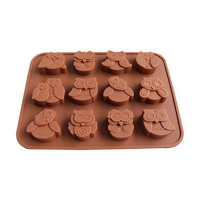 Silicone Owl Chocolate Mould Tray Bakeware Ice Cube Cake Decorating Jelly Mold