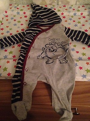 Looney Tunes Babies Sleepsuit With Hat - First Size, Only Worn Once