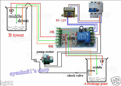 Liquid Level Controller Water Level Detection Sensor Switch Relay Module DC 12V