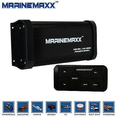 500W Marine Motorcycle Bluetooth Amplifier  Boat Stereo MP3 Player Sound System