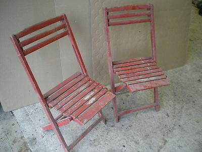 Antique vintage collectable wooden chairs