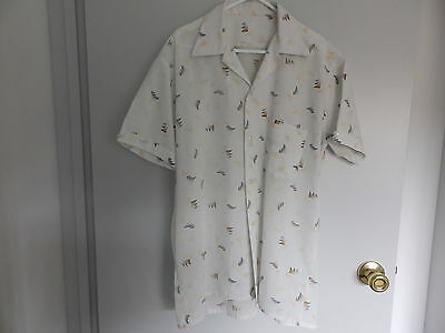 Groovy Vintage Retro Mens Shirt - Approx Size Xl