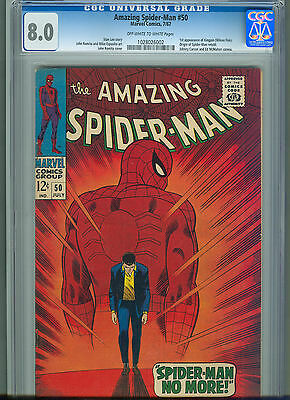 The Amazing Spider-Man #50 (Jul 1967, Marvel) CGC 8.0 1st Appearance of Kingpin