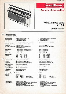 Service Manual instructions for Nordmende Galaxy Mesa 2202 4.110 A