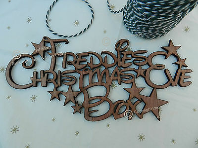 Disney Style Personalised 'Christmas Eve Box' Sign. Wooden Stars Craft Sign.