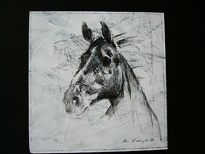 Original 'Horse' Oil Painting - 'BLACK BEAUTY'-  by Irish Artist CON CAMPBELL