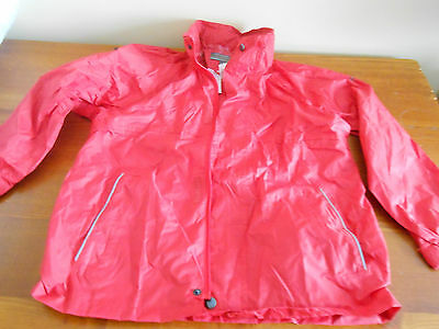 WATERPROOF red JACKET Regatta Age 9 10 - Fold up hood - WITH BAG
