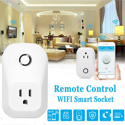 WiFi Wireless Remote Control Smart Power Socket Outlet for Smartphone EU/US/UK