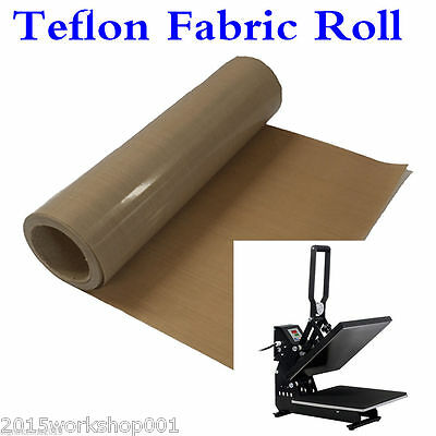 "HOT! 39""x5 Yard Teflon Fabric Sheet Roll 3Mil Thickness for Sublimation Printing"