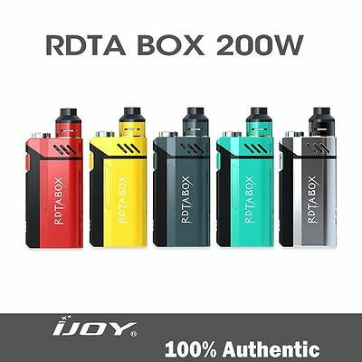 Original Genuine IJoy RDTA Box 200W Mod Kit Vap Tank 12.8ml 100% Authentic New