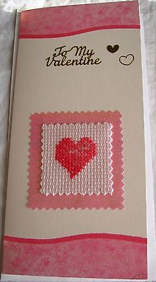 Valentines Day Completed Cross Stitch Heart DL