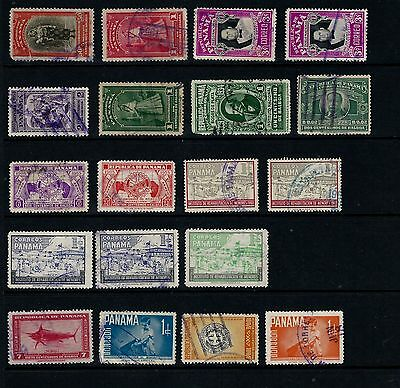 Panama, Assorted Stamps On 3 Stock Page Sides