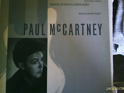 """PAUL McCARTNEY - ONCE UPON A LONG TIME AGO - 1987 PARLOPHONE LABEL 12"""" EP ."""