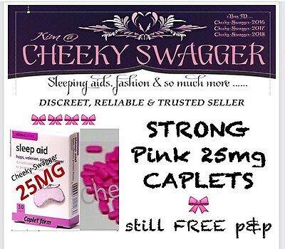 }300x STRONG sleeping PILLS tablets sleep aid 25mg Pink Caplets CHEAPEST EVER !!