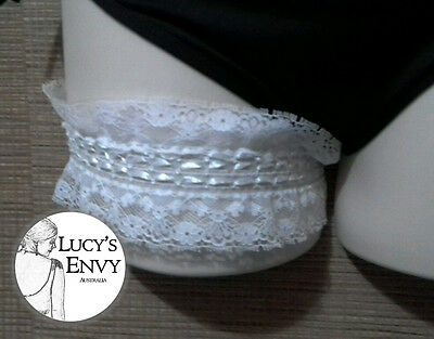 White Lace Ribbon Garter Wedding Bridal Lingerie Belt 32-60cm -Lucy's Envy L113