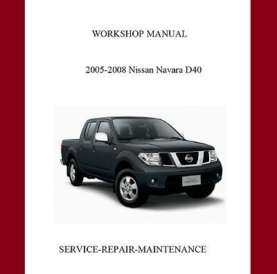 New Nissan Navara Frontier D40 Workshop Service Manual Auto
