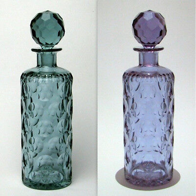Moser Dichroic Cut Glass Decanter c1930