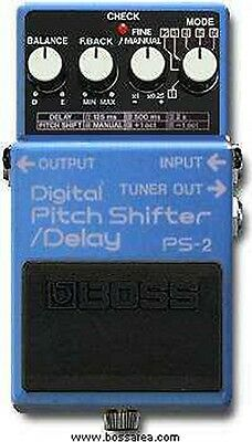 Boss Ps-2 Digital Pitch Shift Shifter Delay Effects Pedal Japan 1989