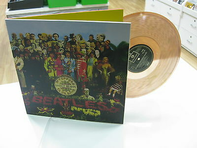 The Beatles Lp Sgt Peppers Lonely Hearts Club Band Clear Brown