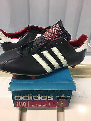 Vintage Adidas W. Overath. Made In West Germany . UK 8. Rare. Football Soccer