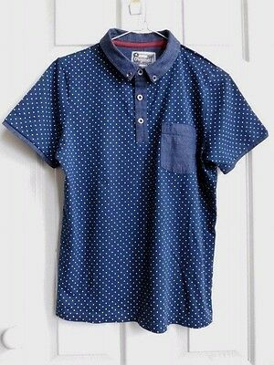 Boys smart / casual navy blue white polo top 12 years (152 cm) from TU