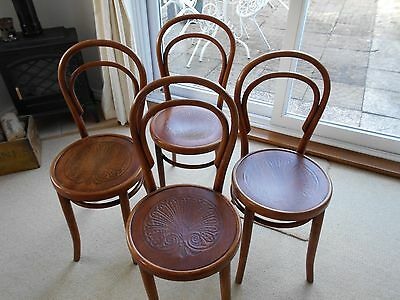Antique French Cafe Bentwood Chairs