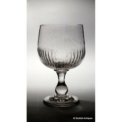 Rib Moulded Mead Glass c1750