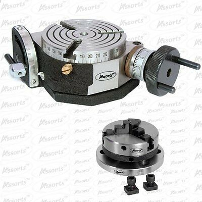 Dividing Attachment  Round Table Ø 75 mm swivel 0-90° with 65 mm Three-jaw chuck