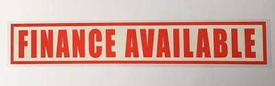 Finance Available 10x Small Self Cling Reusable Car Window Display Stickers