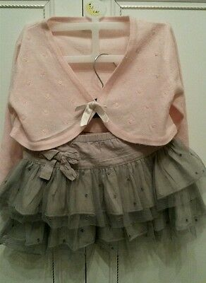 Next/Bhs Girls cequined outfit party bundle skirt cardigan 18-24 mths 1.5/2 yrs