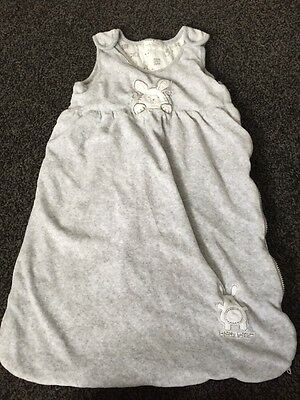 Early Days Happy Bunny Grey Baby Bag Sleeping Age 0-6 Months