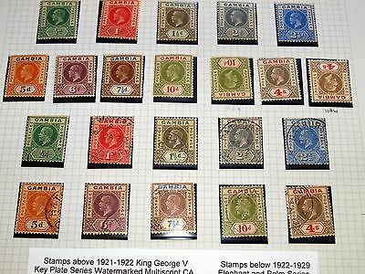 Gambia 1880-1966 Fine Mint, MNH & Used Stamp Collection ~ Comprehensive Nice Lot
