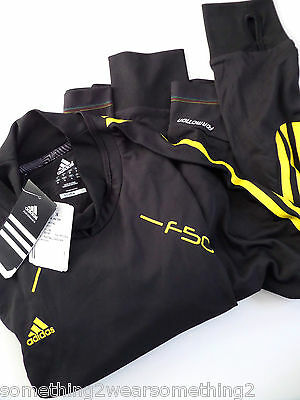 Adidas Climalite Adizero F50 Formotion Training Top Medium Black / Yellow