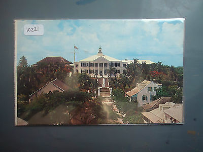 bahamas 1961 picture postcard government house 8d stamp used