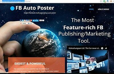 SEO Social media marketing FB online Auto multi page group poster Get More Sales