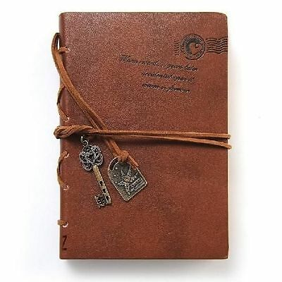Journal Write Diary String Key Leather Bound Notebook Brown Collectibles Vintage