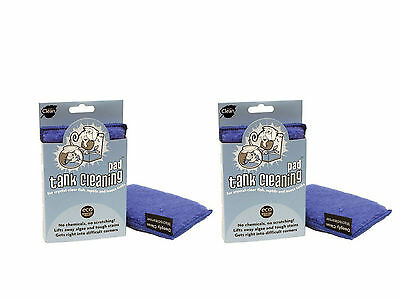 2x TANK CLEANER PAD Easy Grip Clean Reptile Fish Aquarium Small Mammal Insects