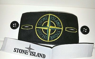 Genuine brand new stone island badges with labels and high gloss buttons