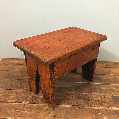 Vintage / Antique Wooden Stool / Bench / Step / Foot Stool, Rustic, Farmhouse
