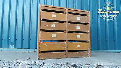 Double Sided Dovetailed Haberdashery Textiles Shop Retail Unit with Drawers