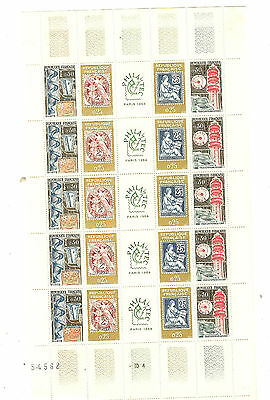 YVERT N° 1414 à 17 x 5 BANDES PHILATEC 1964 TIMBRES  FRANCE NEUFS **