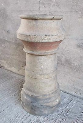 "Antique Chimney Top/Pot - Round - Fired Clay 28"" Tall (#9)"