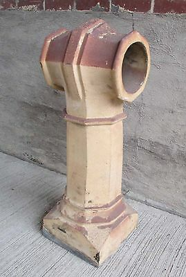 """Antique Chimney Pot - Fired Clay - """"T"""" Top 35"""" Tall (#16)"""
