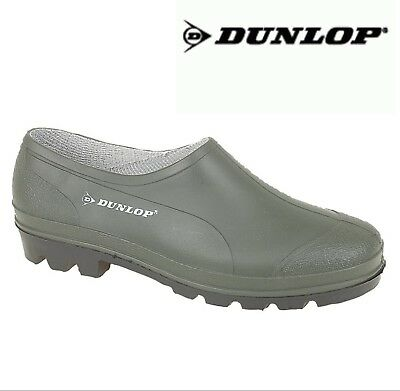DUNLOP  Mens Ladies Green Gardening Clogs Welly Shoes - Size 3 4 5 6 7 8 9 10 11