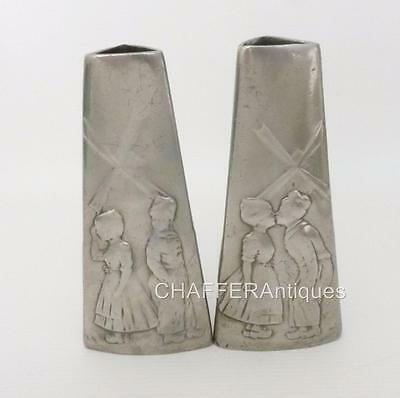 PAIR  of EARLY Jugendstil WMF Kissing Children Vases with Rare B mark