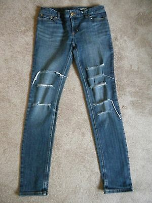 Unisex Genuine Polo Ralph Lauren Ripped Effect Skinny Jeans Age 14 Years