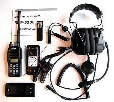 Rexon RHP-530 Ultralight Aircraft Radio package with headset