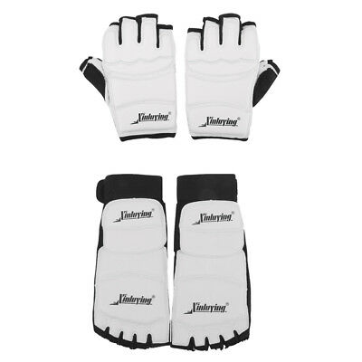 2 Sets XL Boxing Gloves & MMA TKD Karate Foot Guard Protector Mitts Shoes