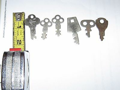 6 Antique keys flat 1 + inches inches each real old keys skeleton steampunk